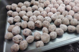 fruity oat balls ready to cook