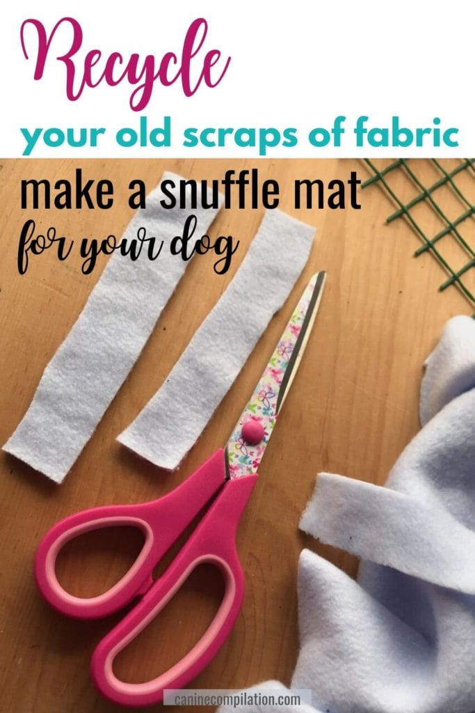 Recycle your old scraps of fabric - make a snuffle mat for your dog