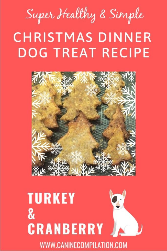 Christmas Dinner Dog Treat Recipe with Turkey and Cranberry