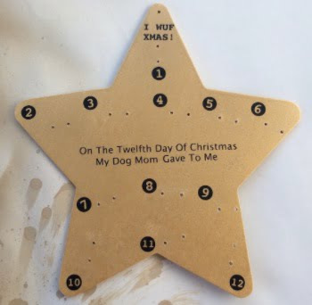 Add the numbers and any text to your Advent calendar