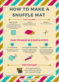 Snuffle mat instructions