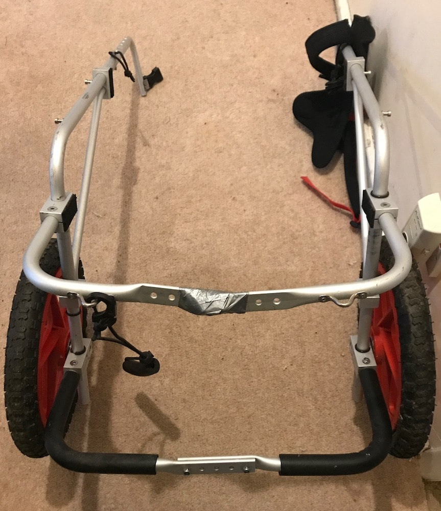 picture of a dog wheelchair for Dog wheelchair review 'Best Friend Mobility'
