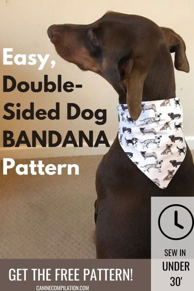 Easy, double sided dog bandana pattern