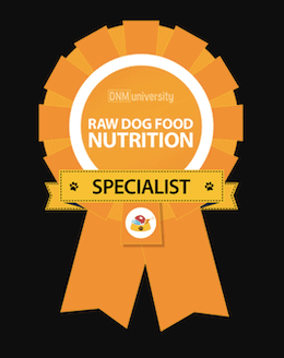 DNM Raw Dog Food Nutrition Specialist Certificate