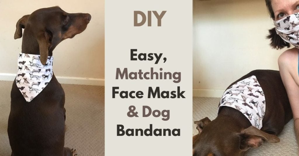 easy, matching face mask and dog bandana patterns