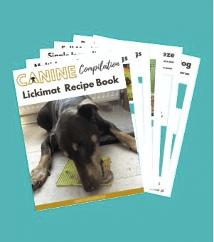 Lickimat recipe book thumb of pages