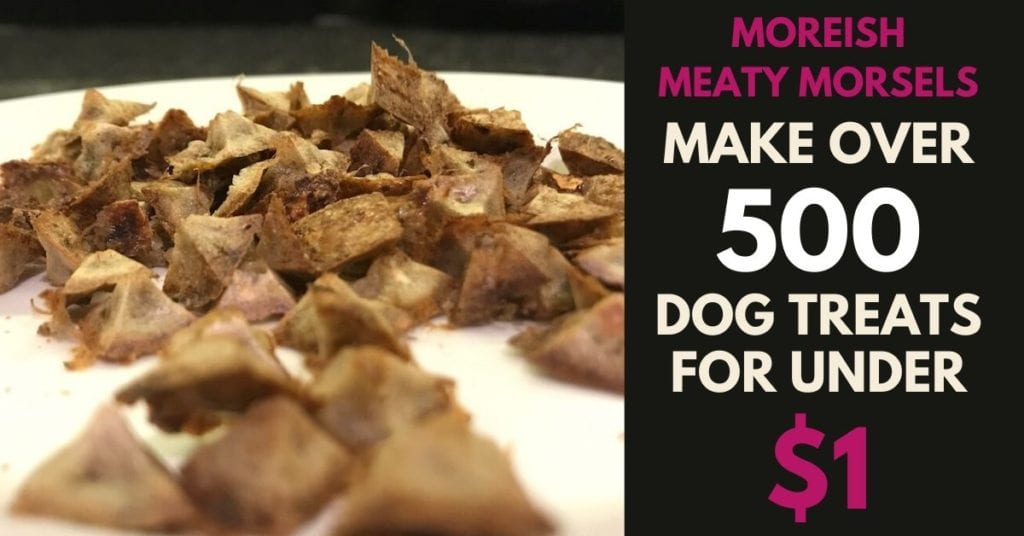 Moreish meaty morsels - 500 dog treats for under $1