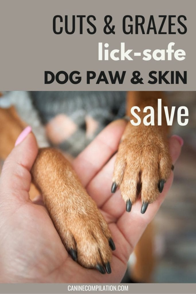 Cuts and grazes, lickable paw and skin salve - DIY tutorial
