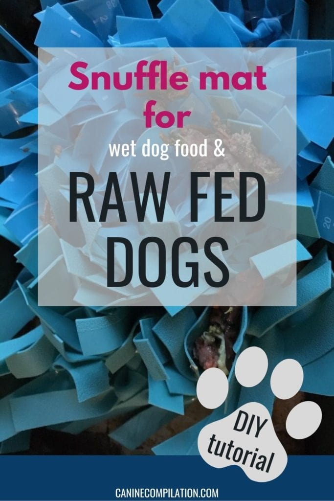 Snuffle mat for wet and raw fed dogs