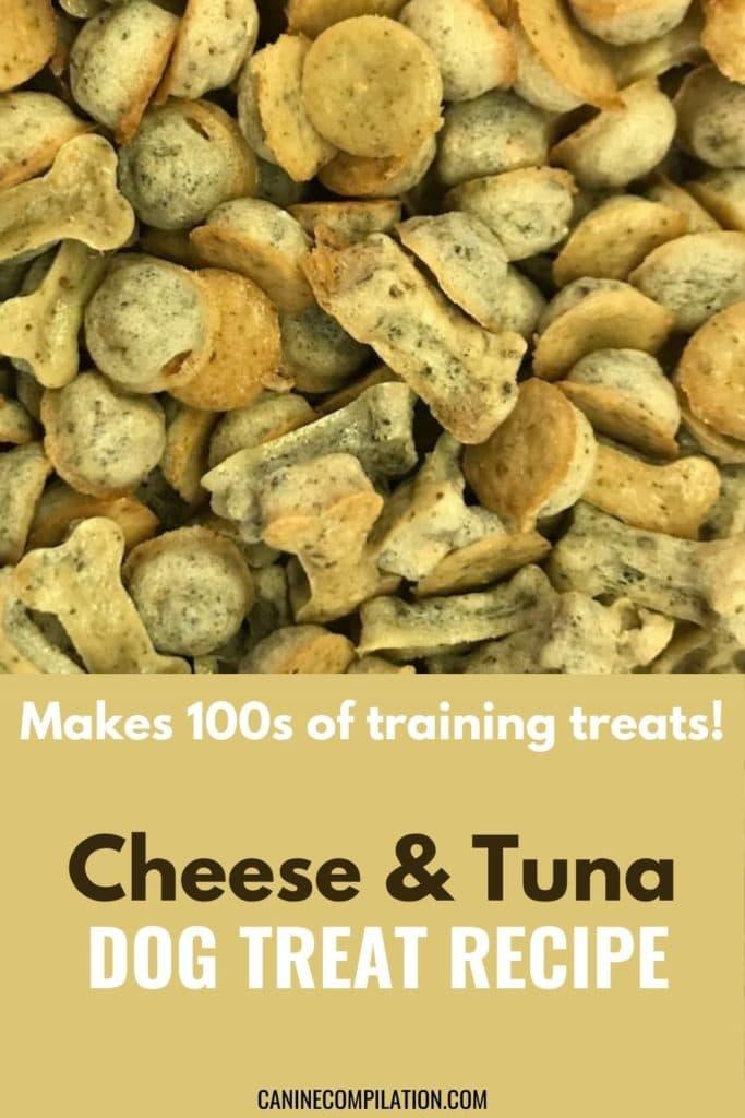 Cheese & tuna dog treat recipe, makes 100s of training treats