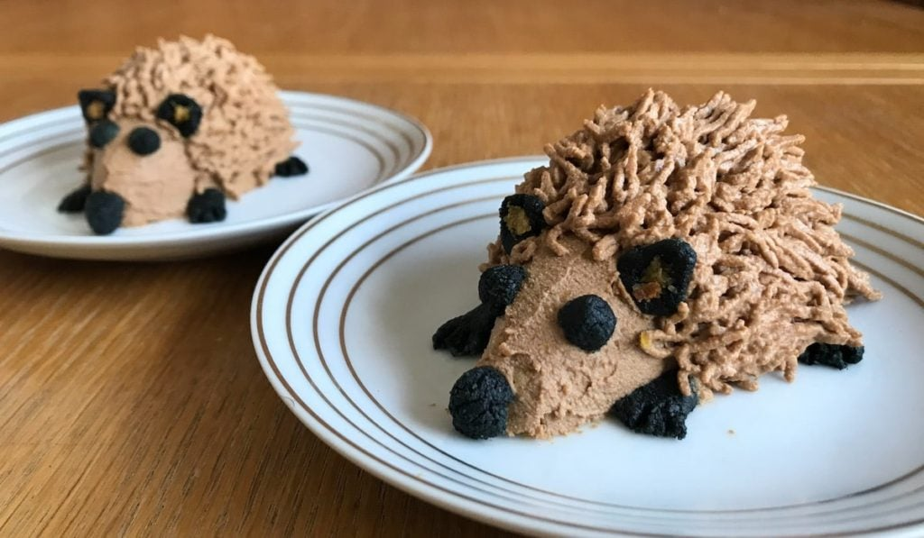 healthy, hedgehog shaped cakes for dogs