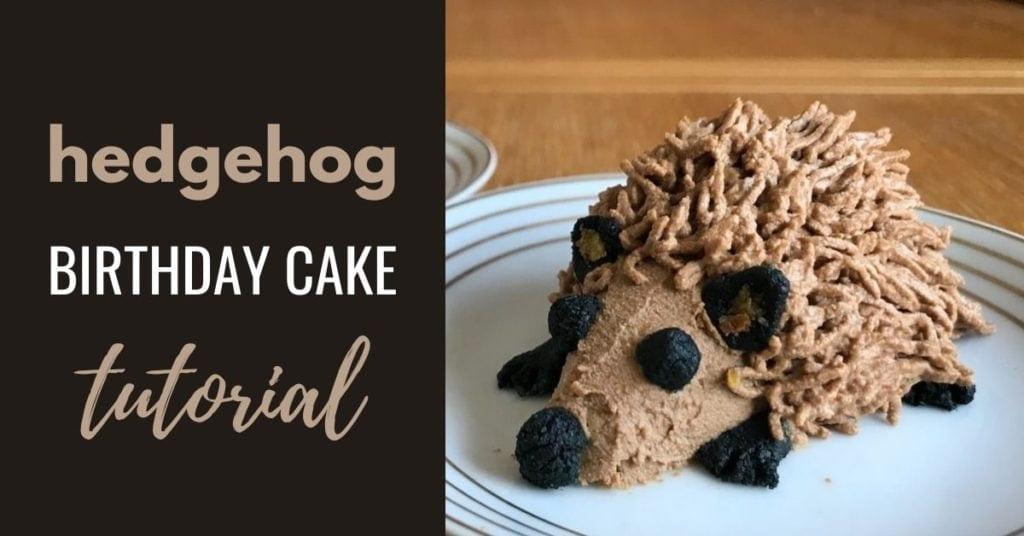 hedgehog birthday cake for dogs - photo tutorial