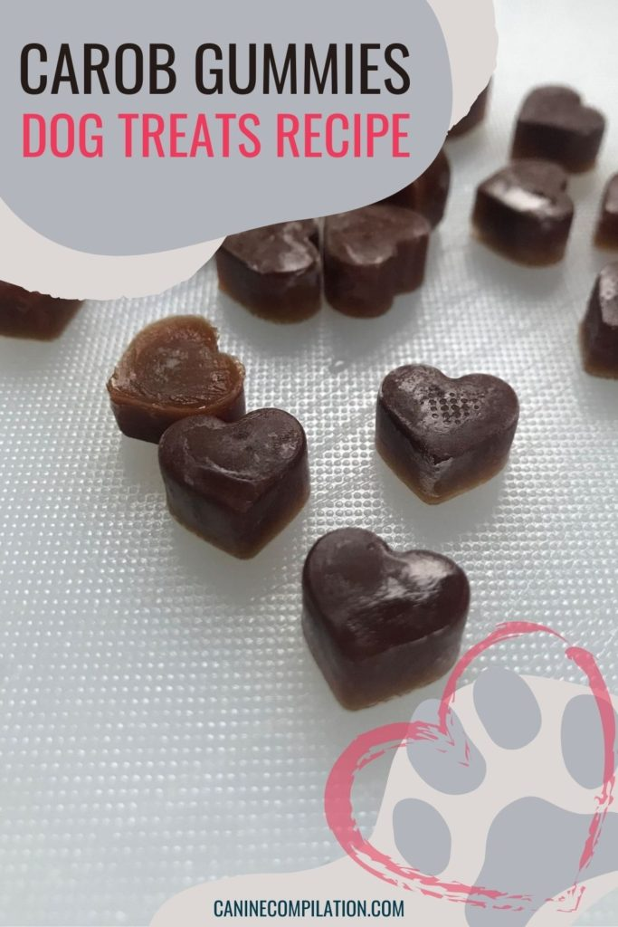 Image of carob gummy dog treats - recipe