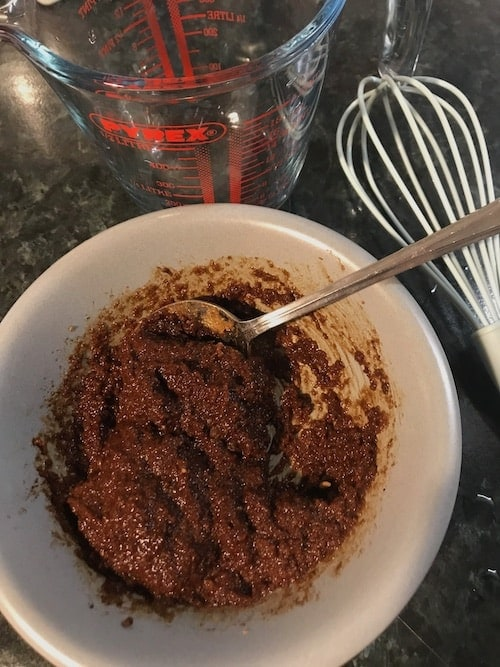 Image of mixing the ingredients together to make carob gummy dog treats