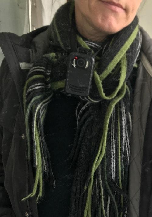 photo of my body camera that I use for dog walking