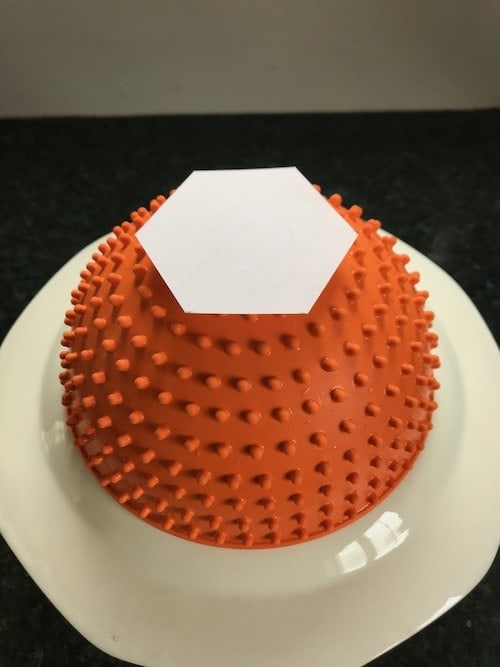 photo of a hexagon template on top of the LickiMat Wobble