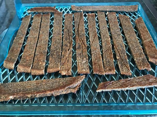 baked quinoa crisp ready for dehydration