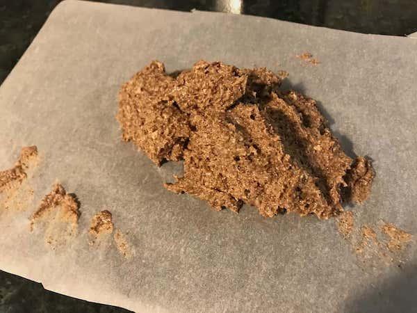 dog treat mix on paper