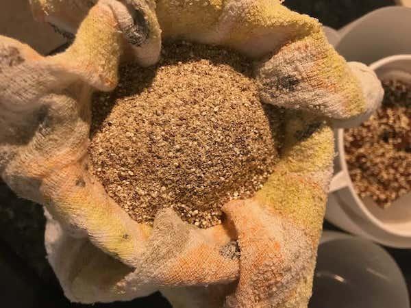rinsing quinoa flour