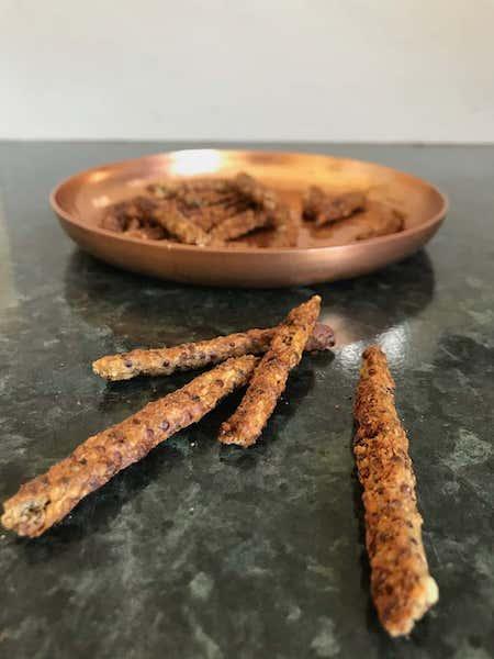 baked quinoa sausage dog treats