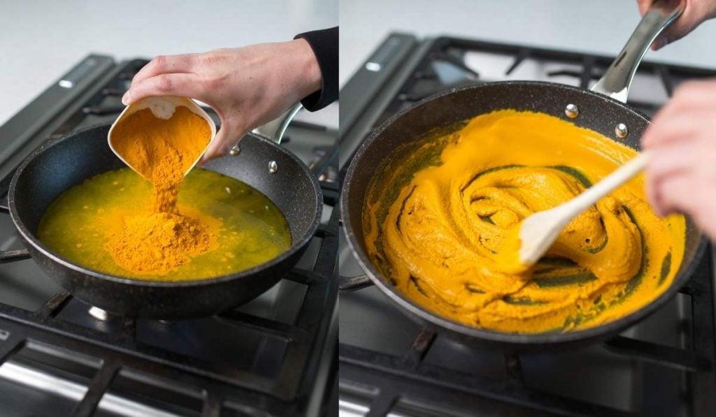 making golden paste steps 1