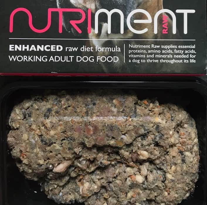 Nutriment raw dog food complete mince